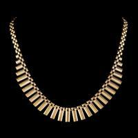 Vintage Cleopatra Fringe Necklace 9ct Gold Dated 1966 (4 of 6)