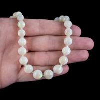 Vintage Natural Opal Crystal Beaded Necklace 18ct Gold Clasp (5 of 8)