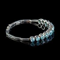 Antique Edwardian Blue Zircon Bracelet Silver 8ct of Zircon c. 1910 (5 of 5)