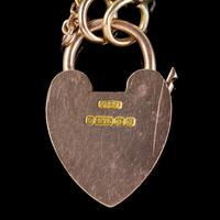 Antique Edwardian Padlock and Key Bracelet 9ct Gold Lewis Brothers Dated 1903 (5 of 6)