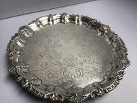 Chester Solid Silver Waiter Salver (4 of 5)