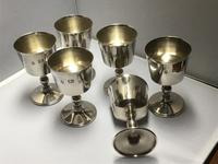 Solid Silver Goblets Set of Six (3 of 6)