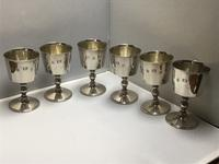 Solid Silver Goblets Set of Six (4 of 6)