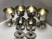 Solid Silver Goblets Set of Six (6 of 6)