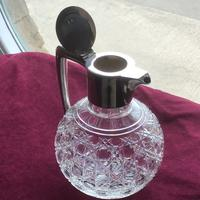 Edwardian Solid Silver Topped Claret Jug (3 of 8)