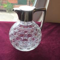 Edwardian Solid Silver Topped Claret Jug (7 of 8)