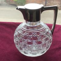 Edwardian Solid Silver Topped Claret Jug (2 of 8)