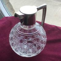 Edwardian Solid Silver Topped Claret Jug (5 of 8)