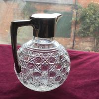 Edwardian Solid Silver Topped Claret Jug (6 of 8)
