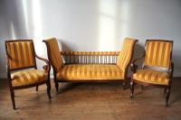 Antique Louis Philippe Jeanselme Three-Piece Suite