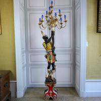 Venetian Blackamoor Torchiere Floor Lamp