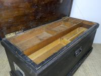1930s Black-Painted Pine Carpenter's Tool Chest (4 of 6)