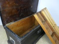 1930s Black-Painted Pine Carpenter's Tool Chest (5 of 6)