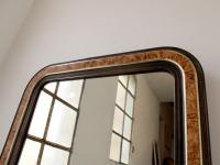 Large 19th Century Louis Philippe Faux Grained Mirror (3 of 6)