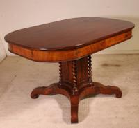 English Mahogany Table From the 19th Century Atypical Shape
