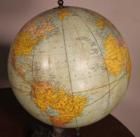 Terrestrial Globe Rand Mcnally & Co Cast Iron Base (9 of 12)