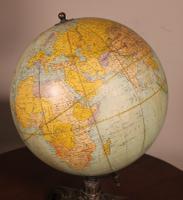 Terrestrial Globe Rand Mcnally & Co Cast Iron Base (10 of 12)