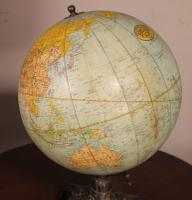 Terrestrial Globe Rand Mcnally & Co Cast Iron Base (11 of 12)