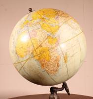 Terrestrial Globe Rand Mcnally & Co Cast Iron Base (3 of 12)