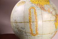 Terrestrial Globe Rand Mcnally & Co Cast Iron Base (4 of 12)