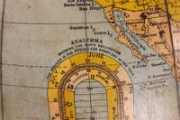 Terrestrial Globe Rand Mcnally & Co Cast Iron Base (5 of 12)