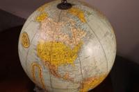 Terrestrial Globe Rand Mcnally & Co Cast Iron Base (6 of 12)