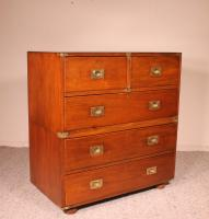 19th Century Campaign Chest of Drawers in Mahogany (2 of 9)