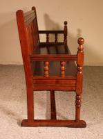 French Bench in Cherry Wood 19th Century (5 of 8)