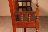 French Bench in Cherry Wood 19th Century (6 of 8)