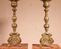 Pair of Louis XV Candlesticks 18 Century (3 of 10)