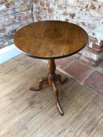 18th Century Country Oak & Elm Tripod Table