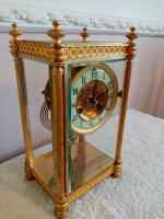Gilt Four-Glass-Sided Clock. Fabrique of Paris (2 of 6)