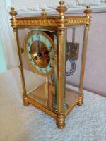 Gilt Four-Glass-Sided Clock. Fabrique of Paris (3 of 6)