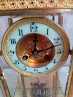 Gilt Four-Glass-Sided Clock. Fabrique of Paris (4 of 6)