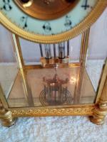Gilt Four-Glass-Sided Clock. Fabrique of Paris (5 of 6)
