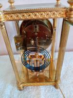 Gilt Four-Glass-Sided Clock. Fabrique of Paris (6 of 6)