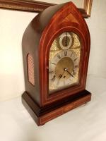 Westminster Chime, Lancet Top, Mahogany Bracket / Mantel Clock (2 of 7)