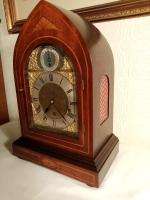 Westminster Chime, Lancet Top, Mahogany Bracket / Mantel Clock (3 of 7)