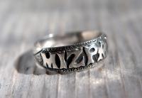 Antique Silver Mizpah Ring, Edwardian circa 1905 (2 of 9)