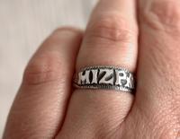 Antique Silver Mizpah Ring, Edwardian circa 1905 (7 of 9)