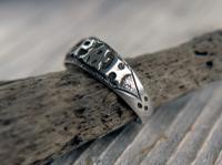 Antique Silver Mizpah Ring, Edwardian circa 1905 (6 of 9)