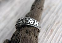 Antique Silver Mizpah Ring, Edwardian circa 1905 (5 of 9)