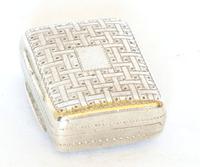 """Silver """"Suitcase"""" Vinaigrette - 1832"""
