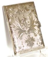 Exceptional Silver Card Case in a Mappin & Webb Box - 1893 (3 of 10)