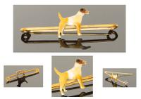 Good Quality Enamelled Terrier Dog Bar Brooch (5 of 5)
