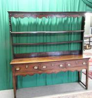 Georgian Welsh Fruitwood Plate Back Dresser