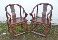 Good Pair of 19th Century Hardwood Horseshoe Chairs