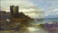 Sam Bough R.S.A. Evening Castle Seascape
