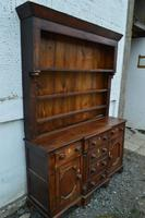 18th Century Oak Inlaid Dresser with Plate Rack (3 of 4)