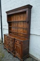 18th Century Oak Inlaid Dresser with Plate Rack (2 of 4)